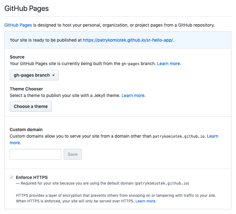 GitHub Pages - success!